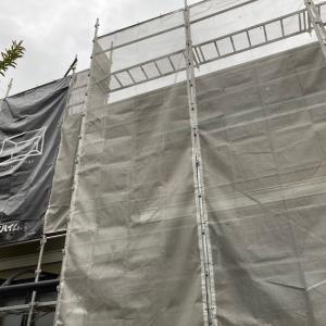 【外壁塗装】(工事1日目)外壁塗装始まりました。