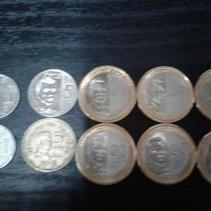 20ペソコインです。 大き過ぎです。