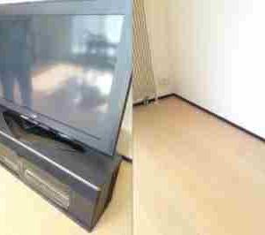 札幌市 中央区 プラズマテレビとテレビ台の移動
