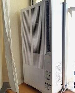札幌市北区、南区 窓用エアコンの取り付け作業