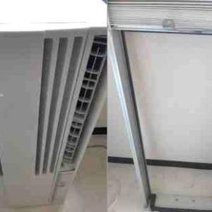 札幌市 豊平区 窓用エアコンの取り付け作業