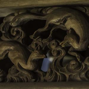 中山稲荷神社 魅力的な白塗りの狛狐 岐阜県中津川市 写真紀行