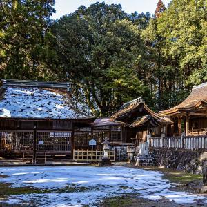 武並神社(恵那市大井町) 国の重要文化財に指定されている格式高い本殿