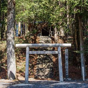 血洗池跡と血洗神社(中津川市) 天照大神生誕地との伝説が残る場所