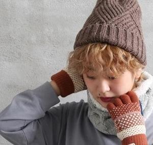 【おまかせ福袋】カジュアルあったか雑貨3点セット(ニット帽+ネックウォーマ―+手袋)