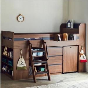 小学生から、一人暮らしの大学生まで 場所取らずで使いやすい木製システムベッド