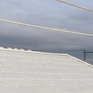 屋根が完成!真っ白な屋根!
