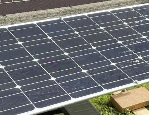 オフグリッド発電でのソーラーライト稼働中