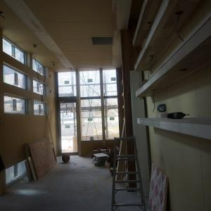 新社屋大工工事が終わりました