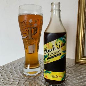 【KALDI】ブラックレモンティーとお気に入りのガラスのコップ