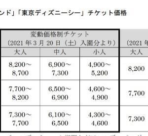 現在(2021年2月)の東京ディズニーランド・ディズニーシー