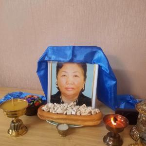 モンゴル国の大切な妹が若くして天国に!!