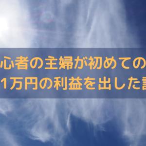 株式投資初心者の主婦が初めての売買で11万円の利益を出した話