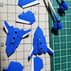 [製作]フレームアームズ・ガール スティレットXF-3 05「塗分け作業と顔のベース塗装」