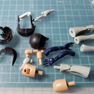 [製作]メガミデバイス 兼志谷 シタラ02「つなぎ目消し作業完了しました」