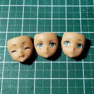 [製作]メガミデバイス 兼志谷 シタラ04「顔パーツのタンポ印刷を消しました」