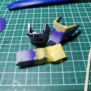 [製作]MG ジェスタキャノン 06「パイロットフィギュア、バーニア塗装」