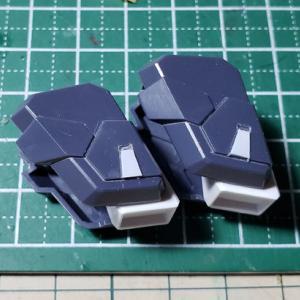 [製作]HG シルヴァ・バレト・サプレッサー製作05「改修作業 肩のディテールアップ、アンテナシャープ化」