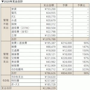 2020年の支出合計