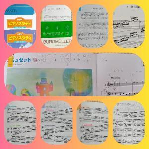 今日のピアノ練習(小4·年長)