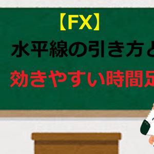 【FX】水平線の引き方と効きやすい時間足【初心者必見】