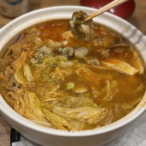 おうちごはん 寒い夜はこれ。〜牡蠣キムチ鍋〜