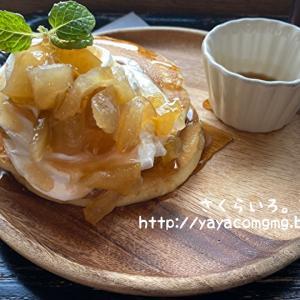 りんごのホットケーキでティータイム⸜(* ॑꒳ ॑* )⸝⋆*
