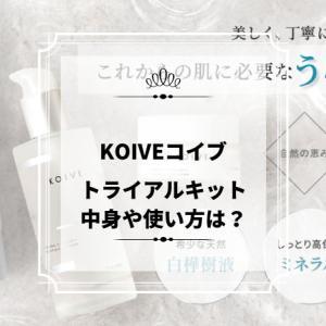 コイヴ(KOIVE)7日間トライアルキットの中身は?使い方のポイントや特徴も確認