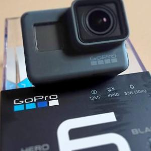 GoPro hero6持って波戸岬