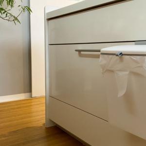 towerをやめて理想のキッチンゴミ箱を発見!浮かせることで掃除もラクラク!