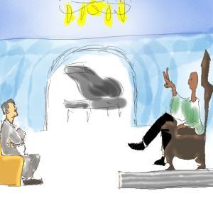 映画のイラストを描いてみた(気持ちのいい)グリーンブック1 ビゴ・モーテンセン