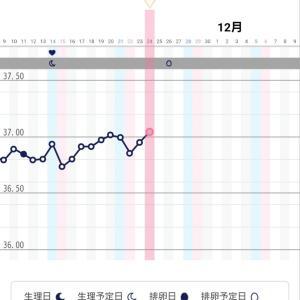 高温期22日目の基礎体温と昨日の血糖値