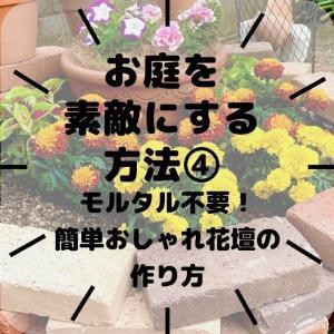 【ガーデニング】レンガを積むだけの簡単花壇作り