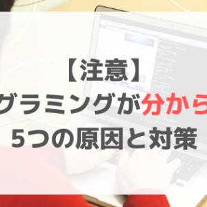 【注意】プログラミングが分からない5つの原因と対策