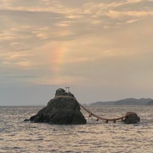 外宮、内宮お参り前に訪れるべき神社とは?夫婦岩で奇跡の虹が!!!