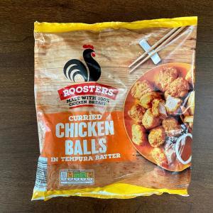 イギリス 冷凍食品 鶏のから揚げ(カレー味) Rooster Curried Chicken Balls in tempura batter