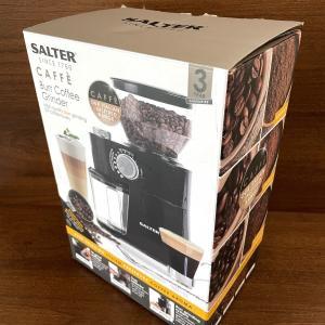 イギリス コーヒーグラインダー Salter Caffe Burr Coffee Grinder