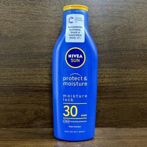 イギリス 日焼け止めクリーム Nivea Sun Protect & Moisture SPF 30