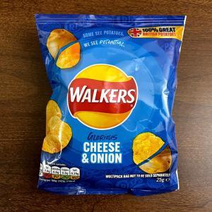 イギリス ポテトチップス(クリスプス:Crisps) Walkers Glorious Cheese & Onion