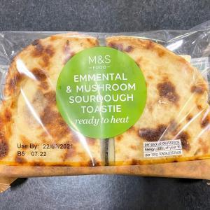 イギリス【外食/M&Sカフェ】 M&S Food Emmental & Mushroom Sourdough Toastie