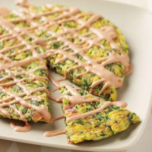 『春菊のイタリアンオムレツ』チーズとオーロラソースで食べやすい!