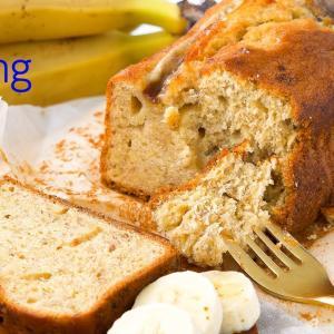 バナナパウンドケーキの作り方 | バナナをたっぷり優しい甘さのしっとりケーキ