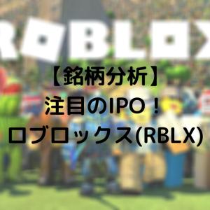 【銘柄分析】ロブロックス(RBLX)がいよいよIPO!サービス・財務状況をチェック