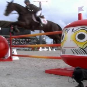 【五輪】馬がだるまにびっくり?総合馬術で減点相次いだ障害