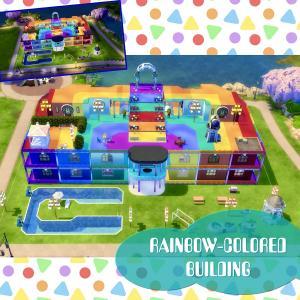 【建築】虹色の何でもできる?公園?【名前:RAINBOW-COLORED BUILDING タイプ:公園 サイズ:50×40】