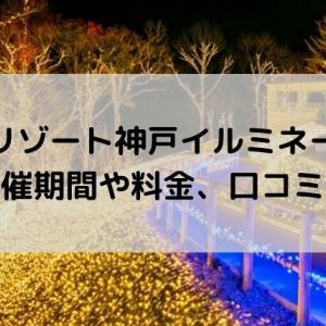 ネスタリゾート神戸イルミネーションの開催期間や料金、口コミは?