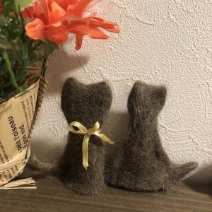 猫毛フェルト『愛猫の毛で人形作り』