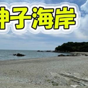探偵マン 女性が佇む大神子海岸を眺めてみる