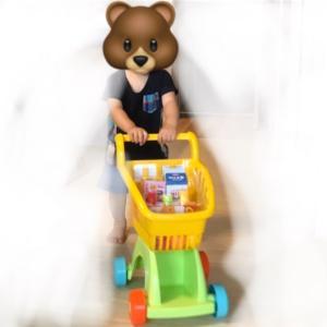 トイザらスのショッピングカートのおもちゃがお気に入り