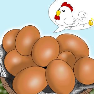 年に一度の縁起物  幸運の大寒卵